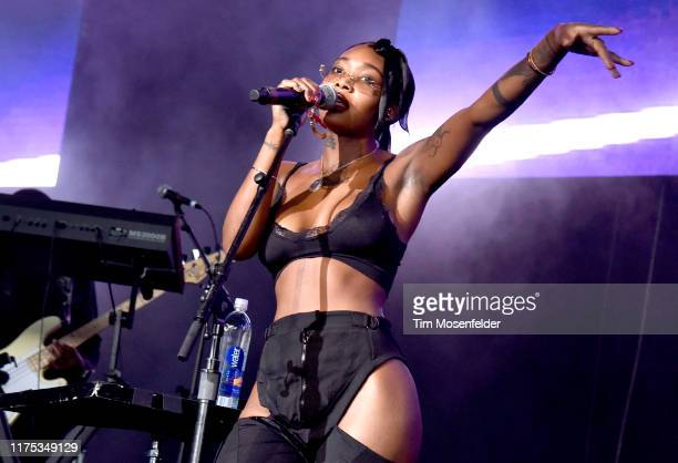 Summer Walker performs during the Lights On Festival at Concord Pavilion on September 14 2019 in Concord California