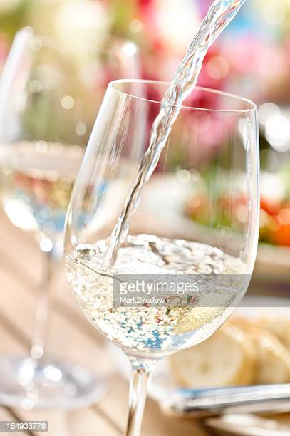 summer wine - white wine stock pictures, royalty-free photos & images