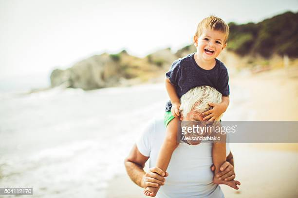 summer with my grandpa - grandfather stock pictures, royalty-free photos & images