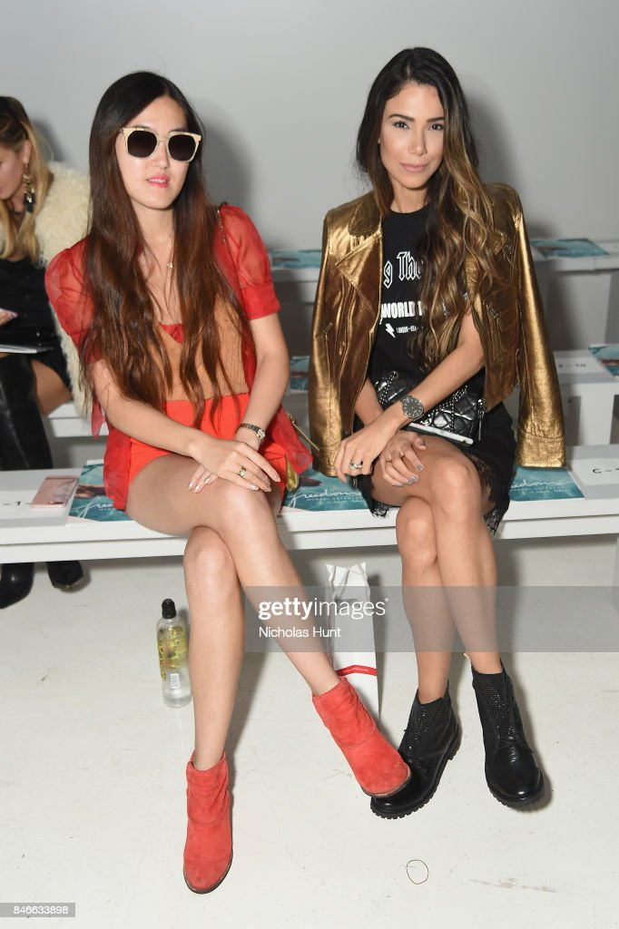 Summer Yl and Joice Oliveira attend the Marcel Ostertag fashion show during New York Fashion Week: The Shows at Gallery 3, Skylight Clarkson Sq on September 13, 2017 in New York City.
