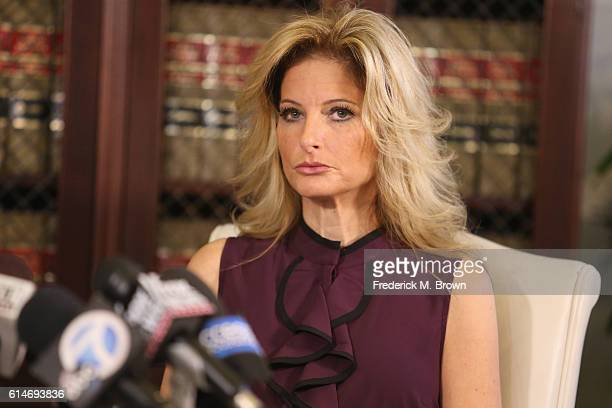 "Summer Zervos a former candidate on ""The Apprentice"" season five who is accusing Donald Trump of inappropriate sexual conduct speaks to the press..."
