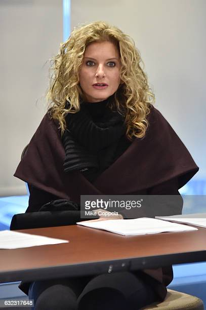 Summer Zervos during the Accusers of President Donald Trump Hold Press Conference With Attorney Gloria Allred At The Women's March In Washington on...