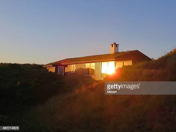 Summerhouse at dusk, Fanoe, Denmark