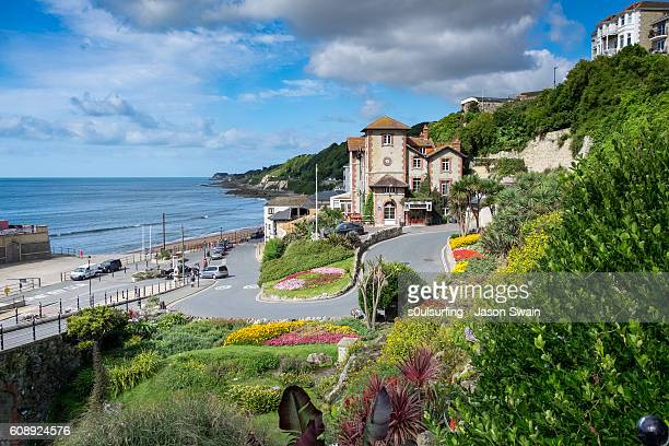 a summers day in ventnor, isle of wight - isle of wight stock pictures, royalty-free photos & images