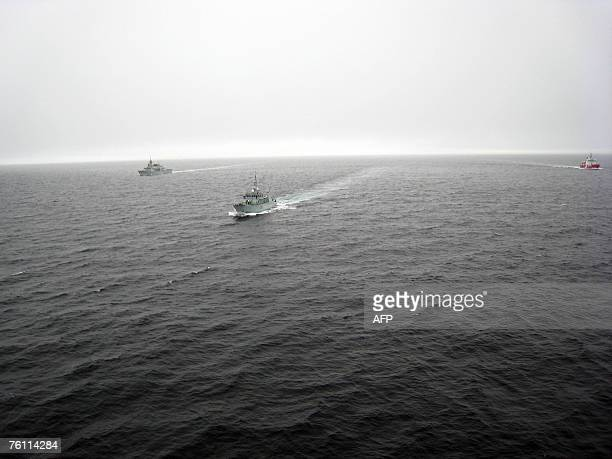 Summerside HMCS Fredericton and the Coast Guard's Martha L Black patrol Hudson Straight 11 August 2007 ahead of Operation Nanook Canada's largest...