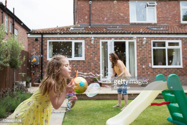 summertime bubble fun - bubble stock pictures, royalty-free photos & images