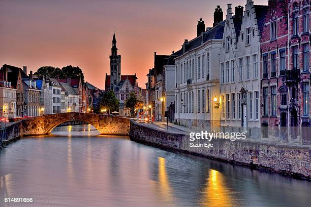 summertime in bruges - bruges stock pictures, royalty-free photos & images