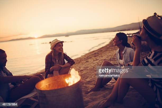Hoguera de fiesta de verano