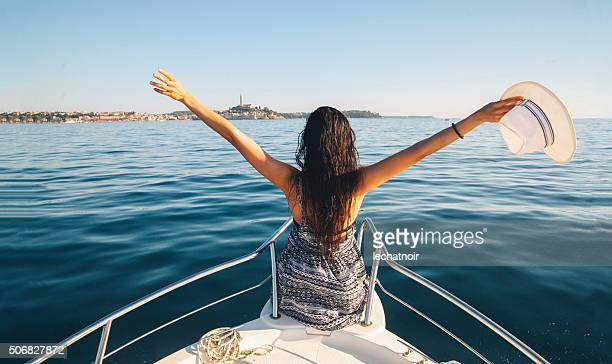 summertime vacation - small boat stock pictures, royalty-free photos & images