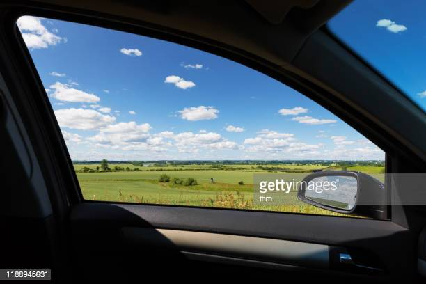 summer-view out of the car - land vehicle stock pictures, royalty-free photos & images