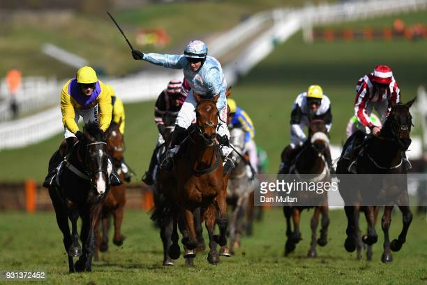 Summerville Boy ridden by Noel Fehily races to win the Sky Bet Supreme Novice Hurdle on Champion Day of the Cheltenham Festival at Cheltenham...