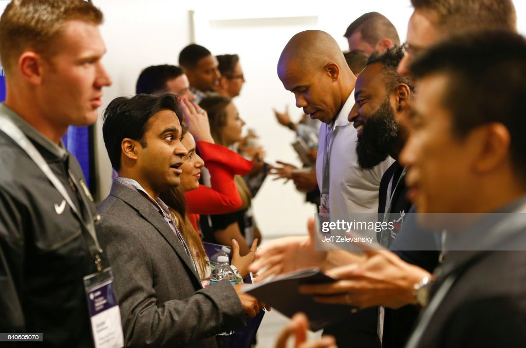 Summit attendees network at the Leaders Sport Performance Summit on August 29, 2017 in New York City.
