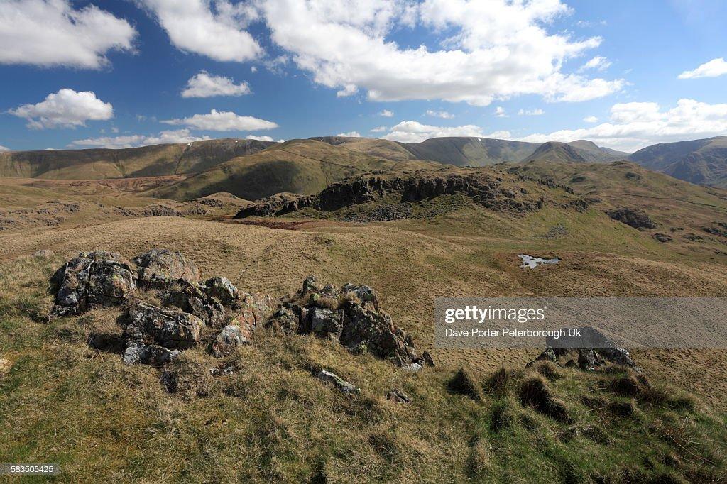 Summit Cairn of Angletarn Pikes : Stock Photo