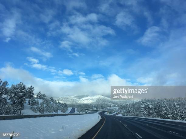 Summit County, Colorado - A clear Interstate 70 on a Winter Morning in Colorado