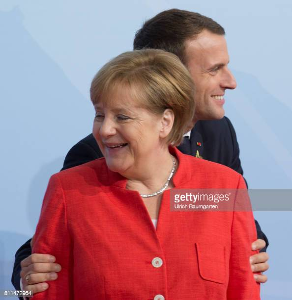 G20 summit in Hamburg Cordialities Federal Chancellor Angela Merkel and the French President Emmanuel Macron