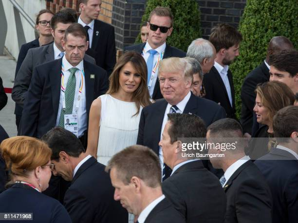 G20 summit in Hamburg Donald Trump President of the United States of America and his wife Melania before a concert at the Elbe Philharmonic Hall