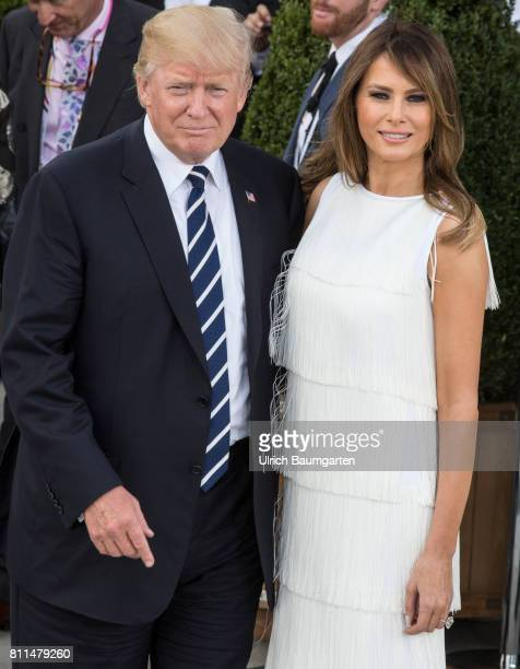 G20 summit in Hamburg Donald Trump President of the United States of America and his wife Melania before the beginning of a concert in the Elbe...