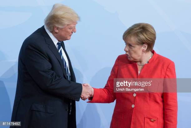 G20 summit in Hamburg Donald Trump President of the United States of merica and Federal Chacellor Angela Merkel