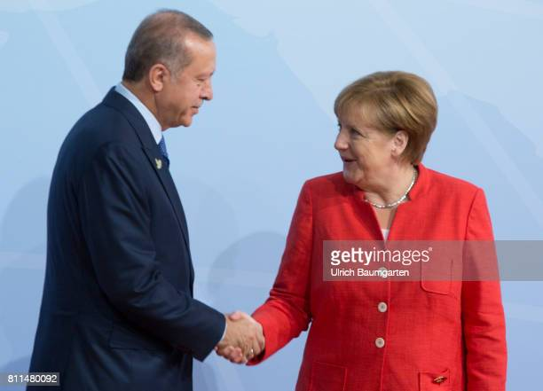 G20 summit in Hamburg Federal Chancellor Angela Merkel and Recep Tayyip Erdogan President of Turkey