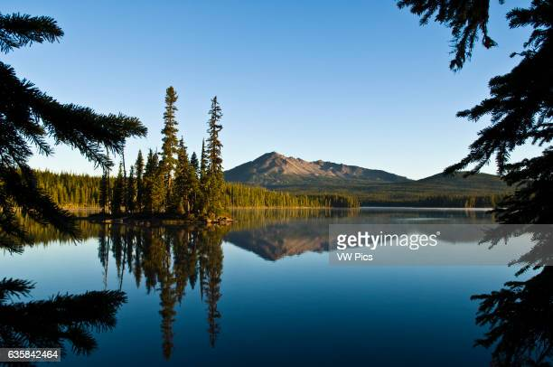 Summit Lake and Diamond Peak; Cascade Mountains, Oregon.