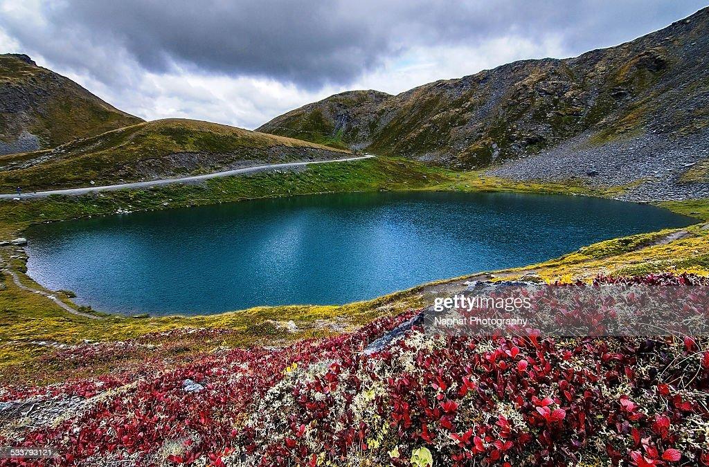 Summit Lake : Foto stock