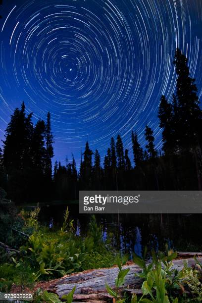 summit lake star trails - barr stock pictures, royalty-free photos & images