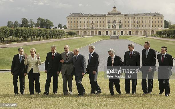 G8 summit leaders Italy's Prime Minister Prodi Germany's Chancellor Merkel Britain's Prime Minister Blair French President Chirac Russia's President...