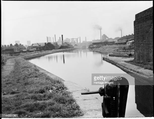Summit Lock, Trent and Mersey Canal, Etruria, Hanley, Stoke-on-Trent, 1965-1968. A view looking north along the Trent & Mersey Canal from the lock....