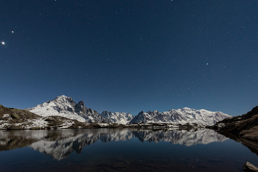 Summit of Europe : the Mont Blanc and Cheserys lakes. - gettyimageskorea
