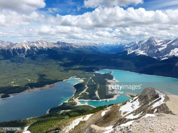 summit of mt. indefatigable - kananaskis country stock pictures, royalty-free photos & images
