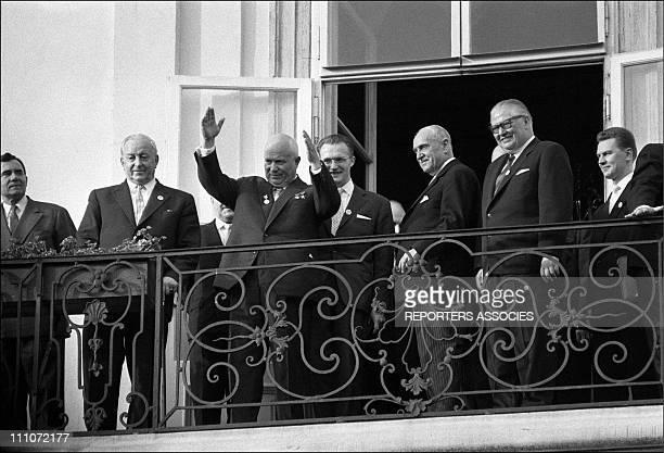 Summit Of Vienne 1961 Jfk And Kroutchev Nikita Khruschchev In Vienna Austria On June 1961