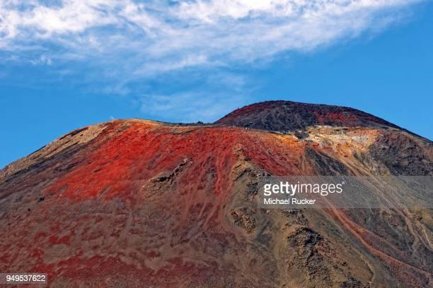 summit of volcanic mount ngauruhoe, tongariro alpine crossing trail, manawatu-wanganui, north island, new zealand - international landmark stock pictures, royalty-free photos & images
