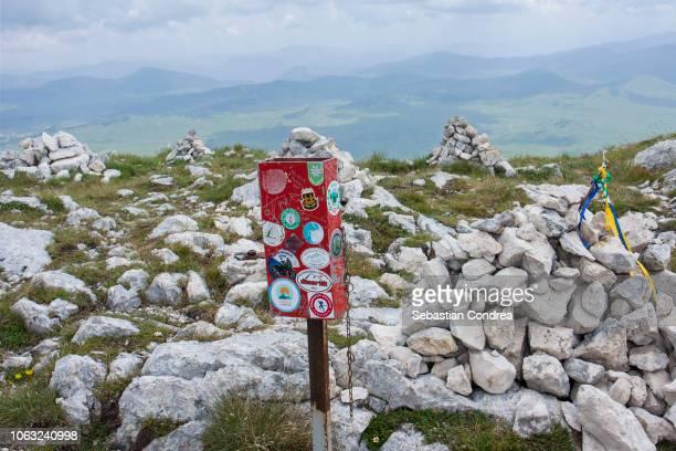 summit on savin kuk peak, national park durmito, travel, montenegro - montenegro photos et images de collection