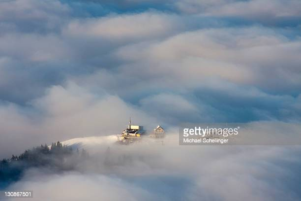 Summit station of Mt Kronberg, Canton of Appenzell, Switzerland, Europe