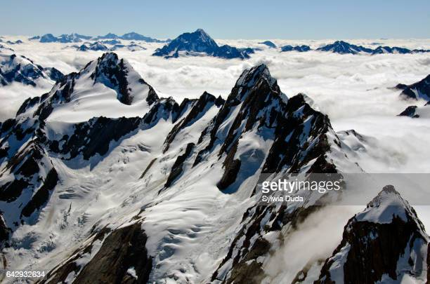 A summit view - mountain peaks above the clouds