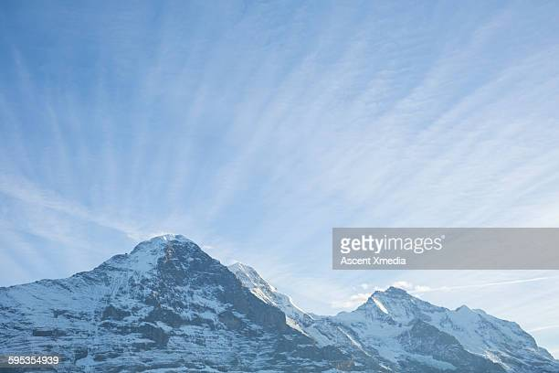 Summits of Eiger (North Face), Jungfrau and Monch