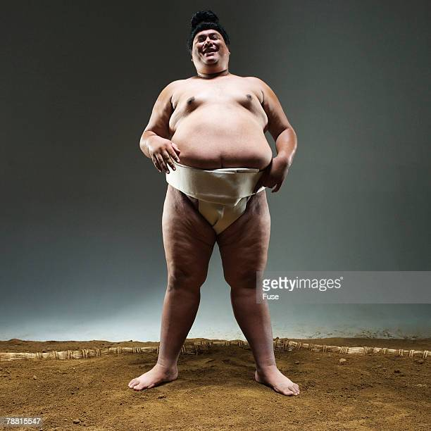 Sumo Wrestler in Ring