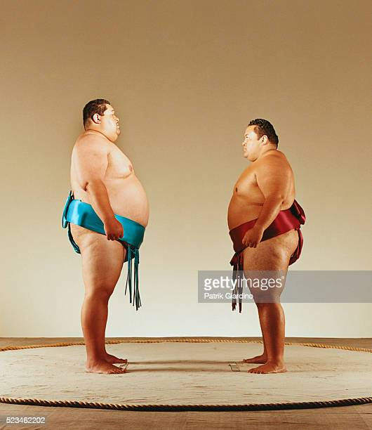 Sumo Wrestlers Facing Each Other