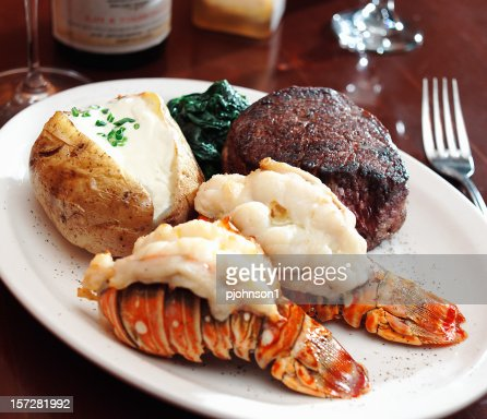 a sumptuous meal of surf and turf with lobster stock photo getty images. Black Bedroom Furniture Sets. Home Design Ideas