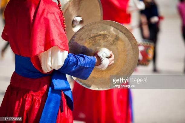 sumunjang (royal guard) changing ceremony in gyeongbok palace,hanbok, seoul  korea - jong heung lee stock pictures, royalty-free photos & images