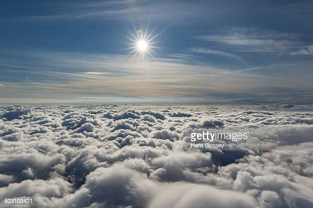 Sun above the clouds, North Rhine-Westphalia, Germany