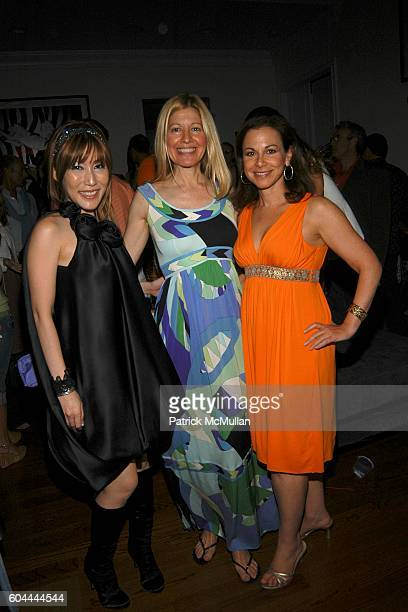 Sun Alice Judelson and Bettina Zilkha attend SUN and Nicole Miller host Patrick McMullan's Birthday Party at Jaguar/Cain Estate on August 26 2006 in...