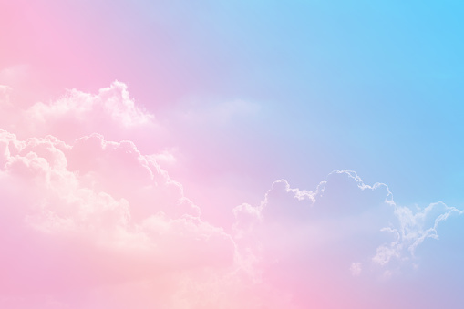 Sun and cloud background with a pastel colored 1160134500