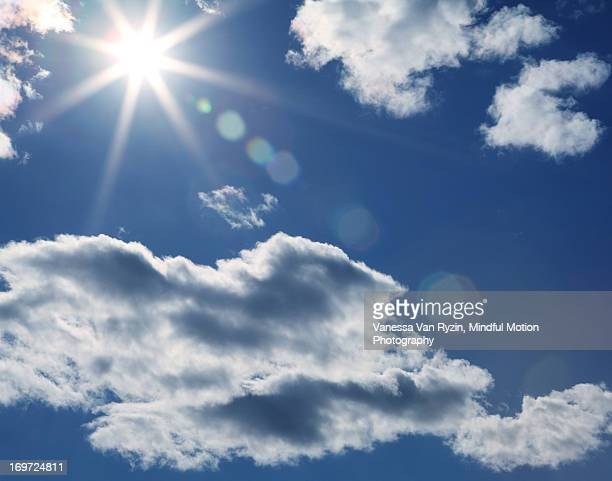 sun and clouds - vanessa van ryzin stockfoto's en -beelden