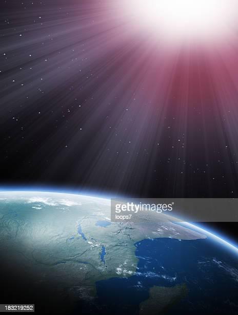 太陽とアースのスペース