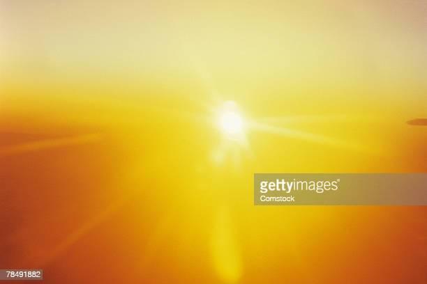 Sun beam , sunset