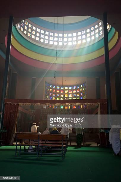 Sun beams entering Debre Libanos monastery