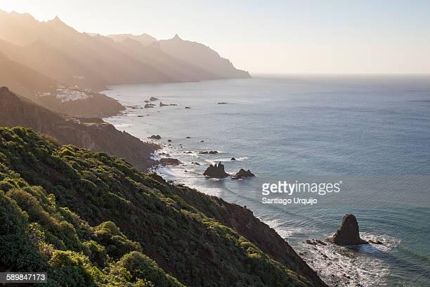 Sun beams hitting the north coast of Tenerife