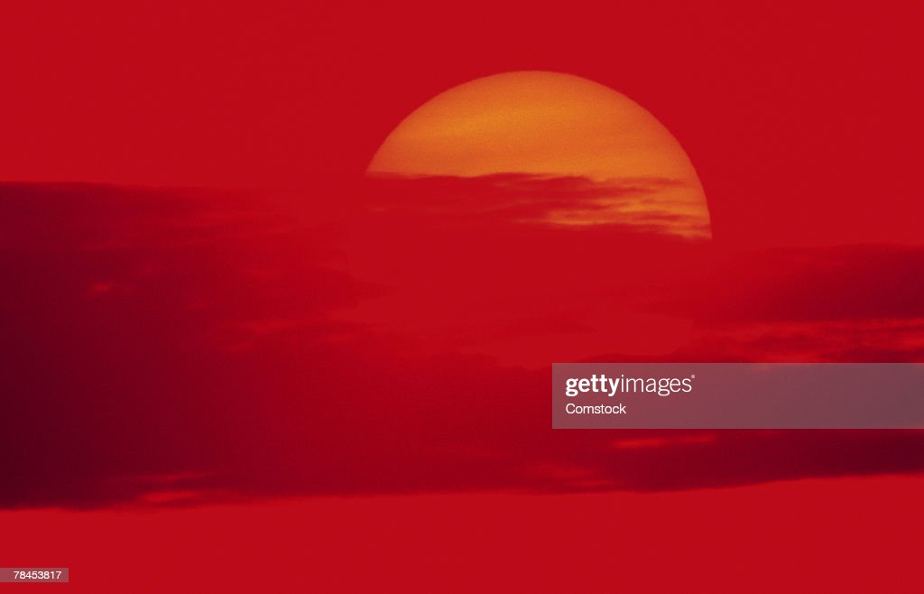 Sun behind clouds : Stockfoto