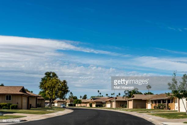 sun city. phoenix. maricopa county. arizona - retirement community stock pictures, royalty-free photos & images